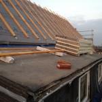 Ansicht gedämmtes Dach und alte Gaube