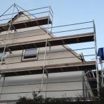 Seitenanischt hälftig gedämmtes Dach